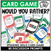 Would you rather? Card Game | Question Prompts for Speakin