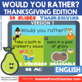 Would you rather Thanksgiving Digital/Virtual Thanksgiving