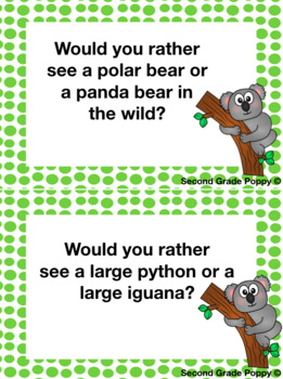Would you rather...? Zoo Edition