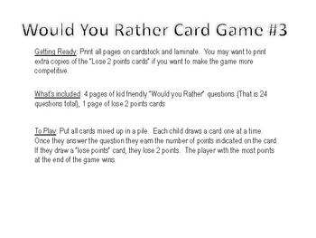 Would you rather game #3