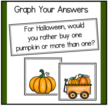 Opinion and Narrative Writing for Halloween - Includes Graphs for Pocket Chart