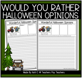 Opinion and Narrative Writing for Halloween - Includes Gra