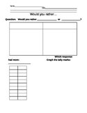 """Would you rather..."" tally mark worksheet"