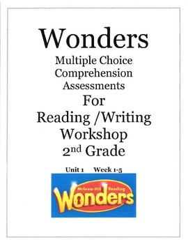 Wounders Multiple Choice Test Unit 1 Second Grade  RL2.1