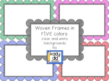 Woven Frames (5 colors, white and clear backgrounds)