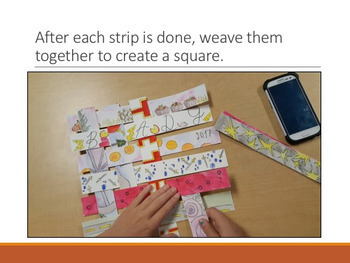 Woven Memory Timeline - Communication through Elements of Art - Visual Literacy