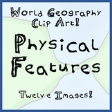 12-Pack of World Geography Physical Features Clip Art- Rea