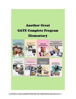 Wow!  3rd 4th 5th Gifted & Talented COMPLETE PROGRAM Elementary New! 55+ Hours