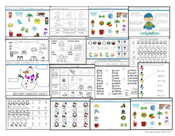 Units for Early Learners with Autism: Wow, It's Winter