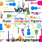 Wow! Music Backgrounds - Digital Papers