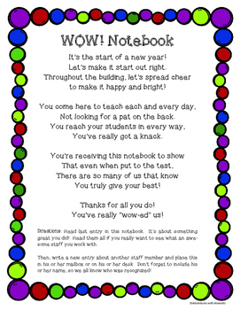 Wow! Notebook--Staff Morale Booster