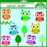 Wow! Owls! Owl Clipart Graphics for Personal and Commercial Use
