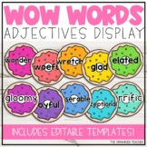 Wow Words Adjectives Display Donut Themed