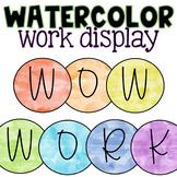 Rainbow Wow Work Display