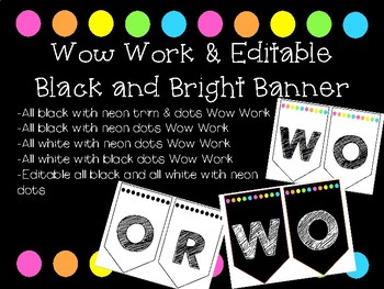 Wow Work and Editable Banners
