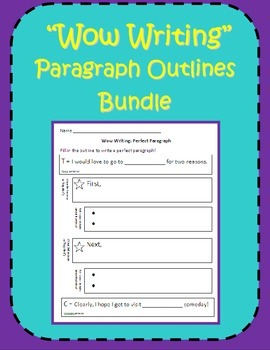 Wow Writing!  12 Paragraph Outlines for Beginning Writers (Common Core aligned)