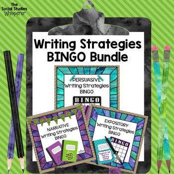 Writing Strategies Test Prep BINGO Bundle