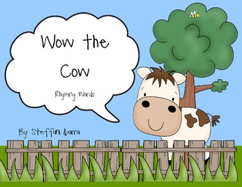Wow the Cow Rhyming Words