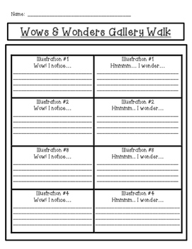 Wows and Wonders Illustrations Gallery Walk