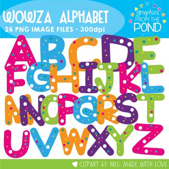 Wowza Alpha- Alphabet Clipart For Teaching