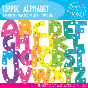 Yippee Alpha- Alphabet Clipart For Teaching
