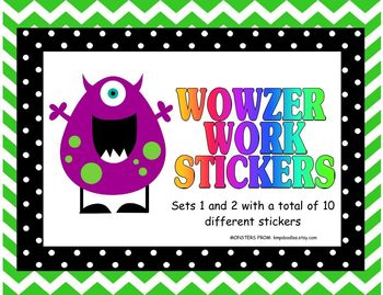 Wowzer Work Stickers for Excellent Work/Grading Stickers