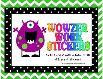 Wowzer Work Stickers for Excellent Work/Grading Stickers