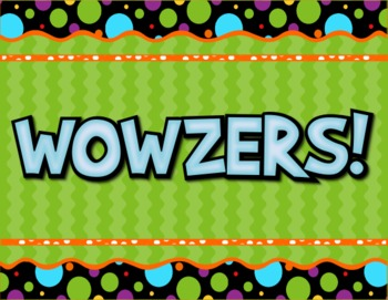 Wowzers Green Polka-Dot Bulletin Board Set