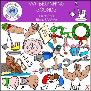 Wr Sounds (Digraph): Beginning Sounds Clip Art