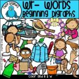 Wr Words Beginning Digraphs Clip Art Set