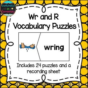 Wr and R Vocabulary Puzzles