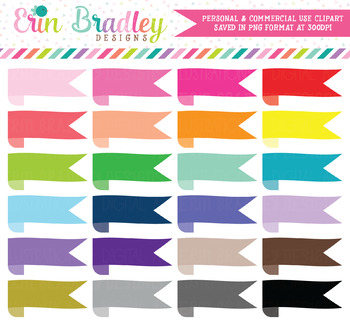 Wrap Around Ribbon Banner Clipart Labels