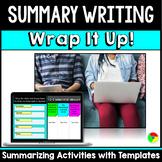 Summarizing, Summary Writing, Main Idea Graphic Organizers: Wrap It Up!