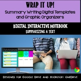 Summarizing, Summary Writing, Main Idea Graphic Organizers