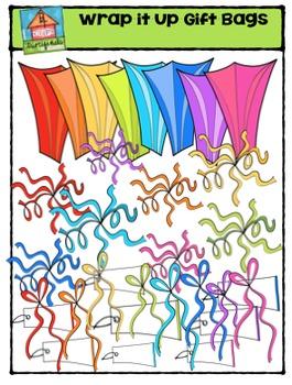 Wrap it Up Gift Bags {P4 Clips Trioriginals Digital Clip Art}