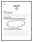Wrap it up!  Story summary sheet.  Common Core aligned.  P