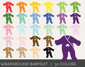 Wraparound Babysuit Digital Clipart, Wraparound Babysuit Graphics