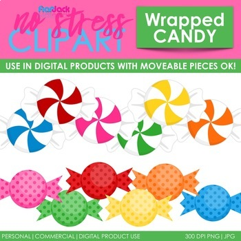 Wrapped Candy Clip Art (Digital Use Ok!)