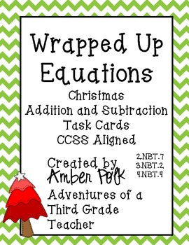 Wrapped Up Equations Math Task Cards {Common Core Freebie}