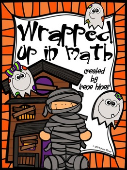 Color By The Number Code ~ Wrapped Up In Math ~ Halloween Addition Puzzles