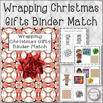 Nonverbal Wrapping Christmas Gifts Binder Match