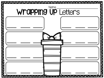 Wrapping Paper Scraps Center Activity Freebie [Literacy & Math Recording Sheets]