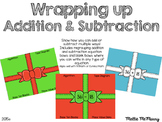 Wrapping Up Addition & Subtraction Christmas Craft