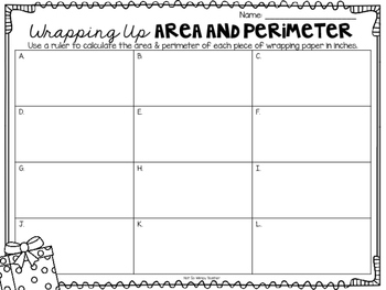 Wrapping Up Area & Perimeter FREEBIE