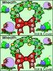 Christmas Math Activities: Christmas Wreath Roll & Cover Christmas Math Center