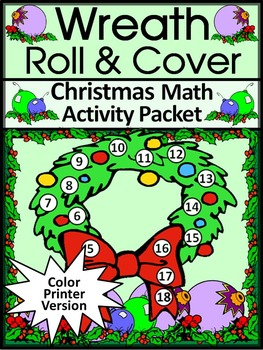 Christmas Game Activities: Christmas Wreath Roll & Cover C
