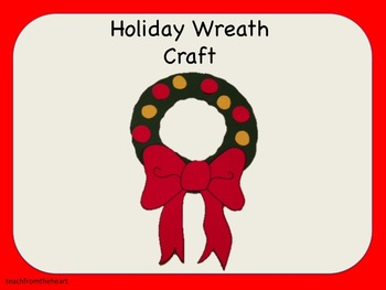Wreath Craft (A Christmas Craft)