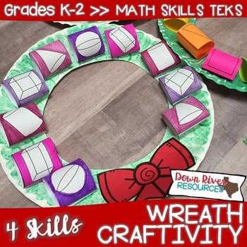 Wreath Math Craftivity   Winter Craftivity   Christmas Craftivity {TEKS/CCSS}