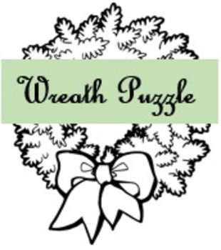 Wreath Puzzle for Christmas and Winter Holidays