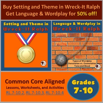 Wreck-It Ralph Bundle: Setting & Theme + Language & Wordplay